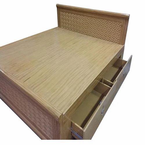 Carved Teak Magic Wardrobe.King Size Teak Wood Cot Bed