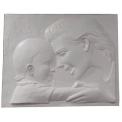 FRP Mother With Child Wall Mural