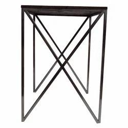 Wooden Top Steel Table