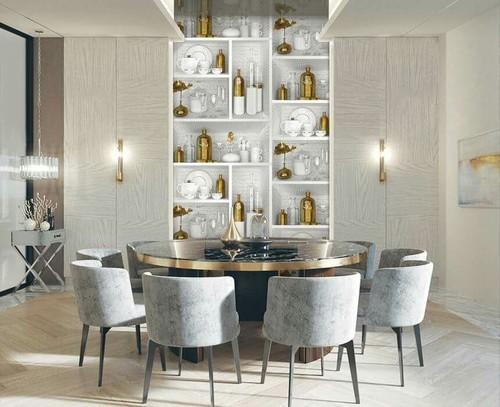 Golden Kitchen Bottles Designs Kitchen 3d Wallpaper Size 57sqft