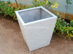 Tall Slate Rectangular Planter