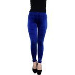 Royal Blue Velvet Leggings