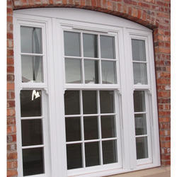 White UPVC Sash Window, for Home, Thickness Of Glass: 5 To 40mm