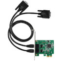 2 Port RS 232 Low Profile PCI Express Card
