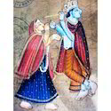 Painting of Krishna & Radha Postcard
