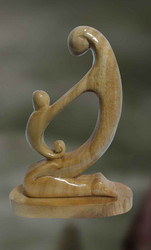 Wooden Sculpture -vatsalya: The Mother's Love