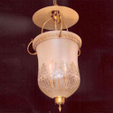 Cool Yellow Incandascent Glass Hanging Lamp