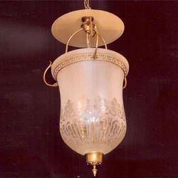 Cool Yellow Incandascent Glass Hanging Lamp