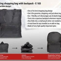 Shopping Bag With Bagpack