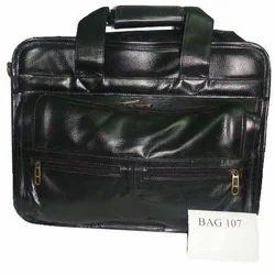 Black PU LEATHER Executive Bag, Size/Dimension: 12