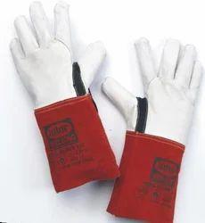 Leather(Buff/Split/Chrome) White TIG Welding Gloves