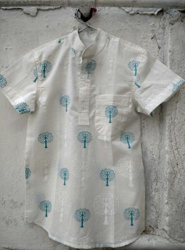 Chiness Collar Boys Shirt