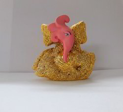 Car Dashboard Peach Color Ganesha