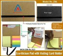 Stick On Pad With Visiting Card Holder