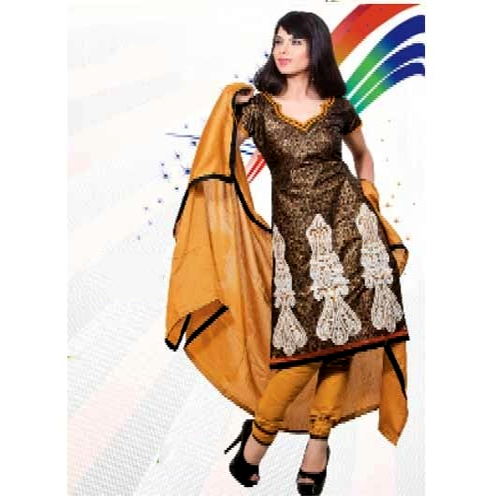 Unstitched Cotton Multicolor Designer Suit