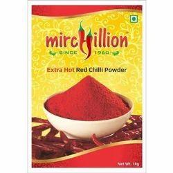 Mirchillion Kashmiri Extra Hot Red Chilli Powder, Packaging Size: 1 Kg, Packaging Type: PP Bag,Paper Bag