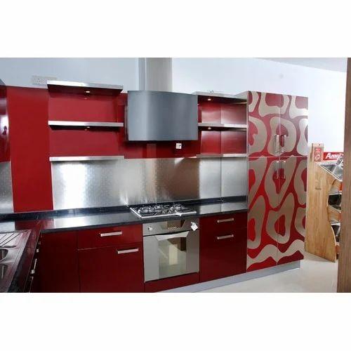 granite acrylic straight modular kitchen warranty 1015