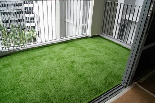 Balcony Artificial Grass Artificial Plants Foliage Hema Flowers