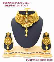 Pearl Drop Mukut Set