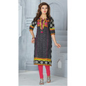 Denim Print Embroidery Kurtis