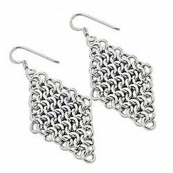 Striking Designer 925 Sterling Plain Silver Earrings