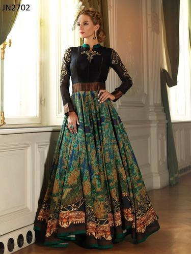 Evening Gown With Digital Print at Rs 3300 /piece | Evening Gowns ...