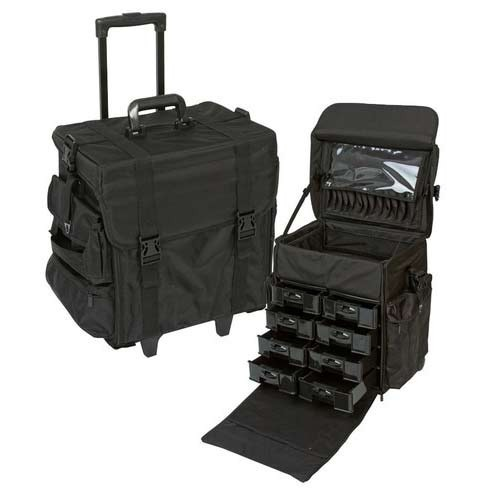 Professional Rolling Cosmetic Case At