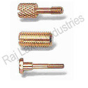 Knurled Slotted Brass Screws