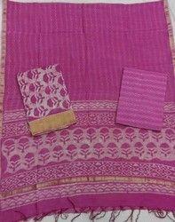 Pigment Print Chanderi Suit