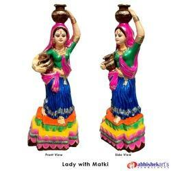 Frp Lady with Matki Showpiece