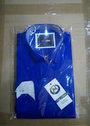 Small & Medium Darkblue AndSandal Gold Satin Cotton Full Sleeve Shirt
