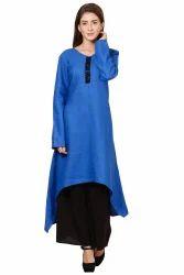 Blue Cotton Kurti