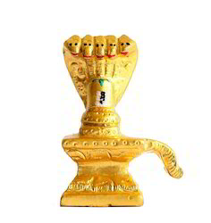 Gold Mounted Shivling - Small