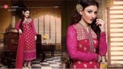 Pink Heavy Embroidered Designer Salwar Suit