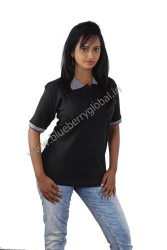 c77fe5d6db074f Women's Apparel & Clothings - Solid Collar T Shirt Manufacturer from ...