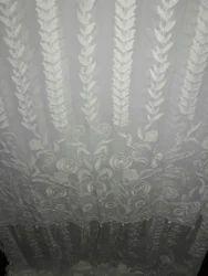 Ivory Chikankary Designer Hand Made Bridal Veil, Size: 400x110 Cm