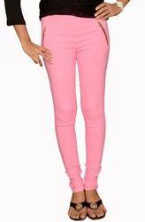 Light Pink Zipper Jeggings