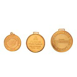 Gold Die Punched Medal