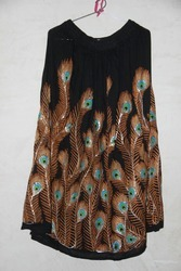 Party Wear Rayon Skirt