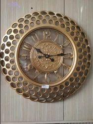 Golden Designer Wall Clock