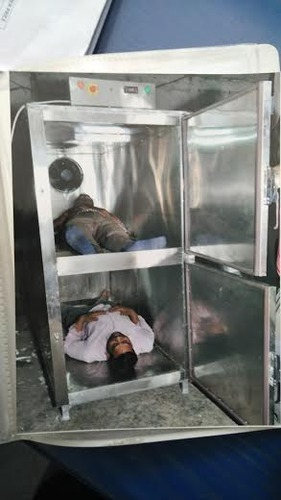Bodies are piled up at the mortuary of Donetsk's Kalinina hospital ...
