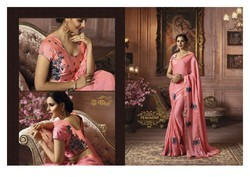 Palav Pure Georgette Sarees with Semistitched blouse