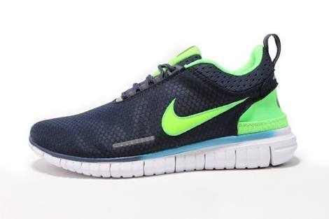 uk availability 80368 ac4ef Men Nike Free OG Breathe Navy Blue Green Running Sports Shoes