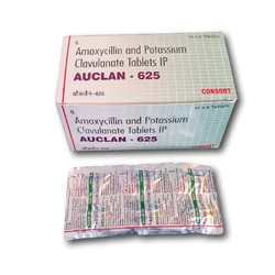 Amoxycillin and Clavulanic Acid Tablets (AUCLAN-625), Packaging Size: 10*6, Packaging Type: Strip