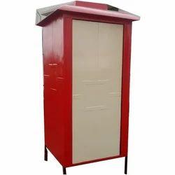 FRP Parth Fibrotech Fiber Mobile Toilet, Size: 4' X 4' X 7'