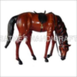 Leather Animal Stuffed Leather Grazing Horse Manufacturer From Indore