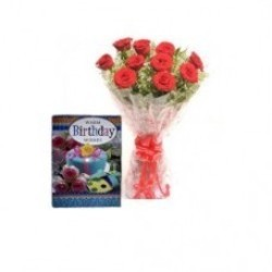 Roses with Greeting Card