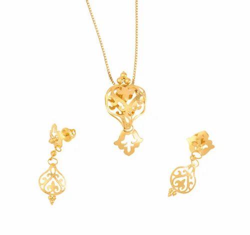 Tanishq amara gold pendant set at rs 27705 gold pendant set id tanishq amara gold pendant set aloadofball Gallery