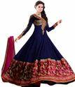 Angel Blue Pure Georgette Anarkali Dress