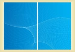 Books Magazine Cover Design Templates Blue Color Printing